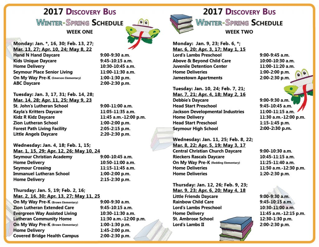 Bus schedule graphic