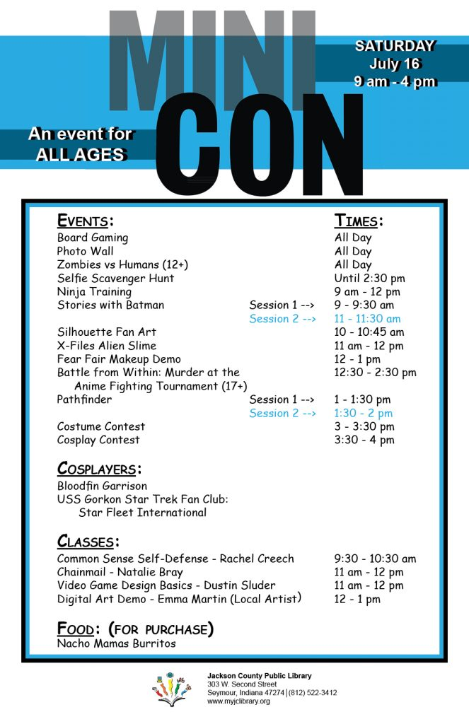 MINICON is coming July 16! – Jackson County Public Library