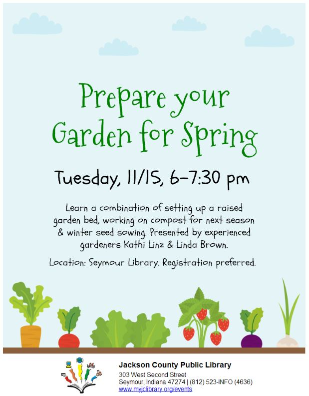 Prepare your garden for spring jackson county public for Preparing for spring