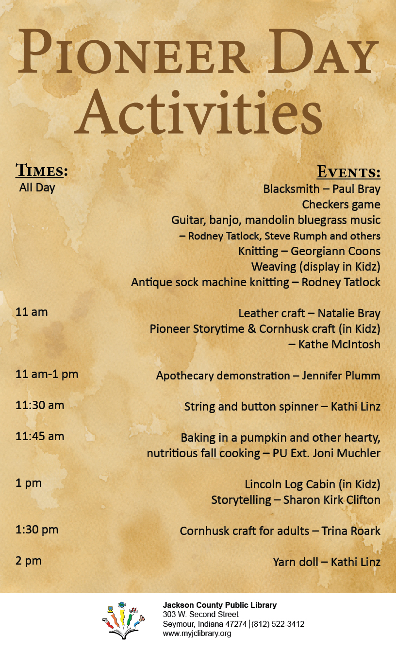 stop by pioneer day today   u2013 jackson county public library