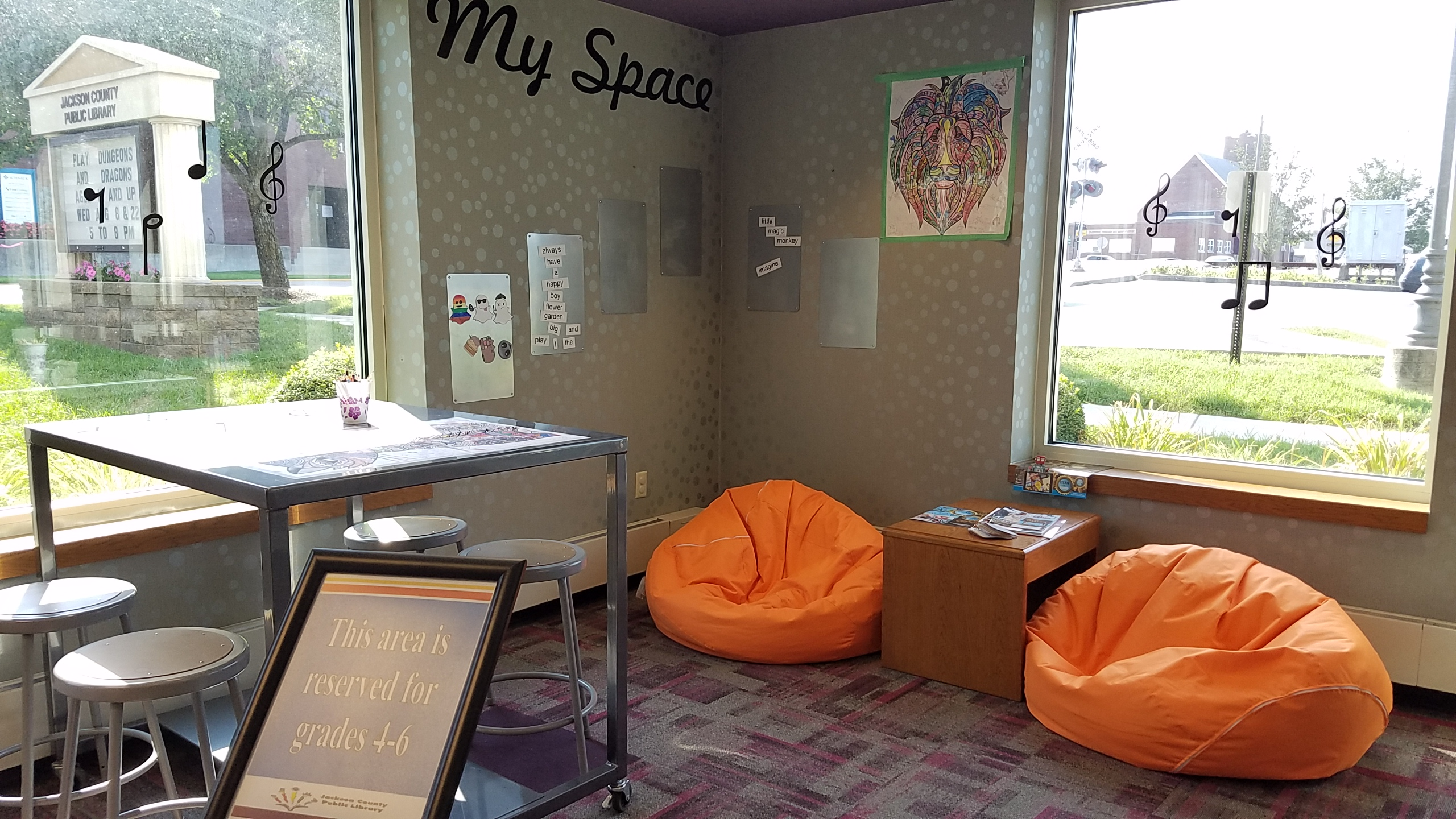 Kidz Korner and My Space Updates – Jackson County Public Library