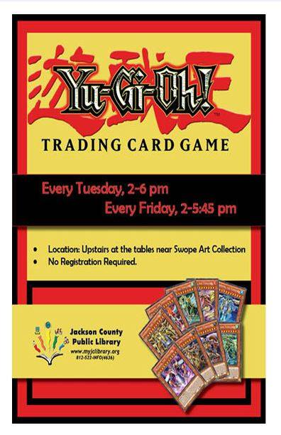 Play Yu-Gi-Oh! every Tuesday and Friday at the Seymour Library!