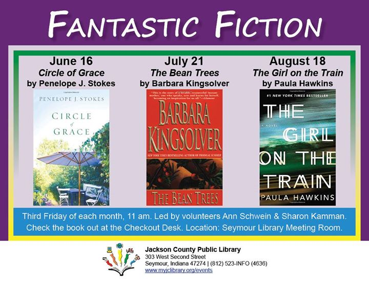 Check out your August discussion book at your library's Checkout Desk.