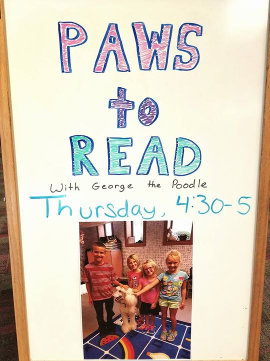 Join us today from 4:30-5pm to practice your reading skills! Open to children in grades K-5. All rea...