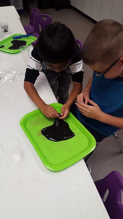 Today the kids explored slime!   Some was even magnetic.   They also got the chance to do magnet maz...