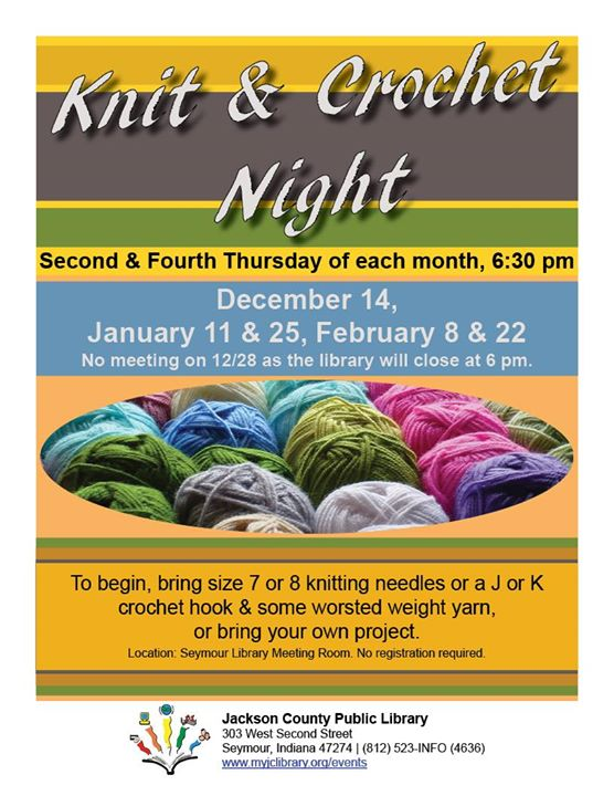 There will be a Stash Swap on January 25!  Bring any unwanted yarn or craft items to trade amongst t...