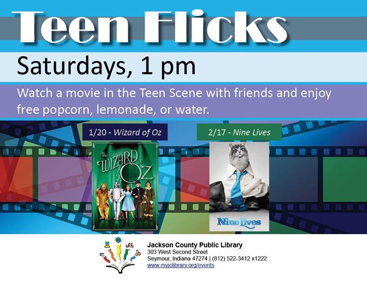 The Seymour Library Teen Scene is showing the original The Wizard of Oz at 1 pm today! Free popcorn,...