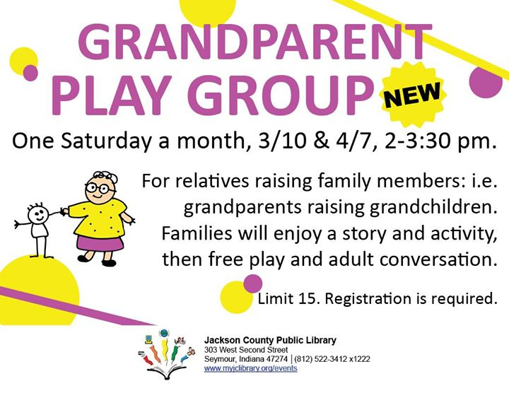 Are you a grandparent raising your grandchild?   If so, sign up for our new program taking place in ...