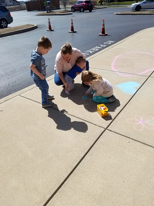More Sidewalk Chalk photos from our 2nd round today!
