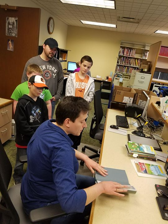 "Kids got the chance to go behind ""Staff Only"" doors today to see what library staff members do on a ..."