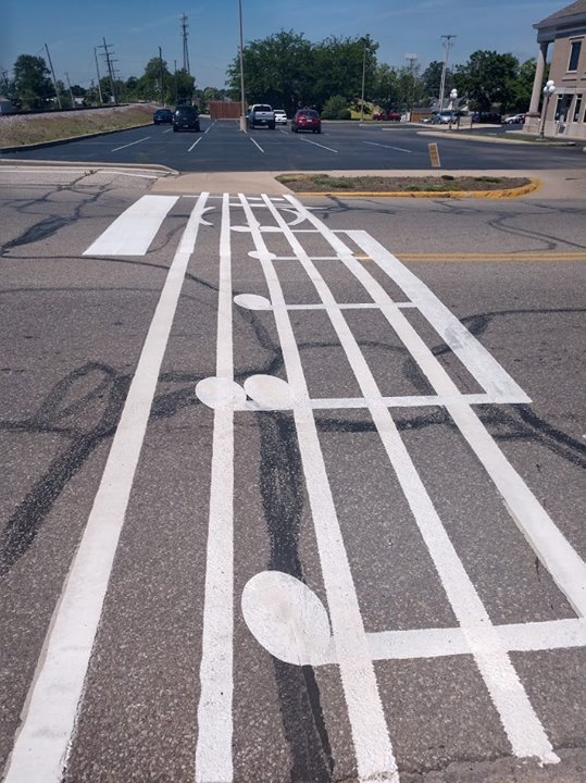 The City of Seymour painted such a neat crosswalk beside the library this week.  How lucky are we th...