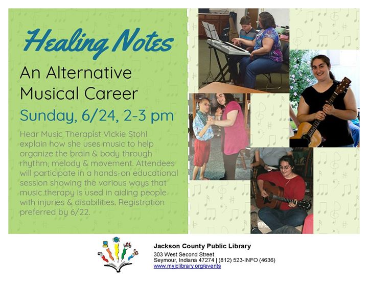 Did you ever wonder what a music therapist does?  Join us for Healing Notes, where Music Therapist V...