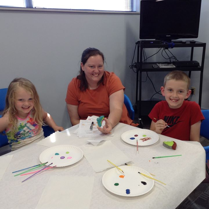 The kids in Crothersville got to enjoy some rock painting in Masterpiece Makers on Monday!