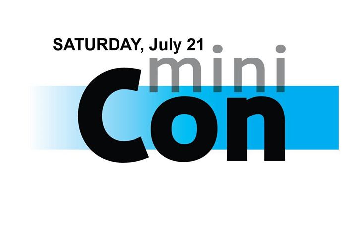 All-ages Saturday schedule for miniCon:  Minecraft Course (ages 12 & under) (9 am- 12 pm)  Karao...