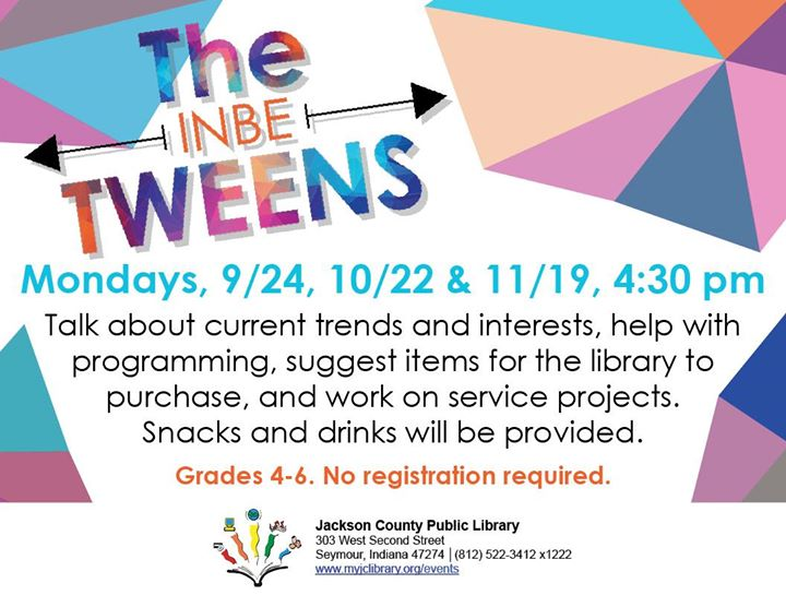 Grades 4-6 are encouraged to join us Monday September 24th for The inbeTWEENS. This is your opportun...
