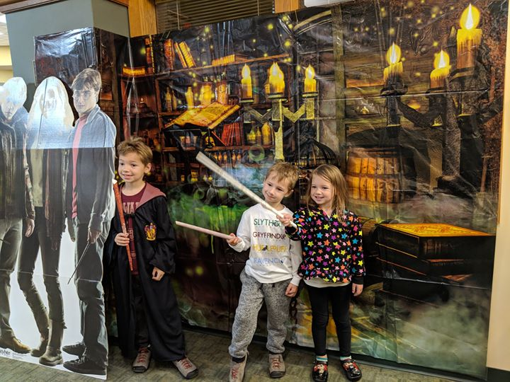 Join us today in your best witch or wizard attire  to make a wand, do a scavenger hunt, try out the ...