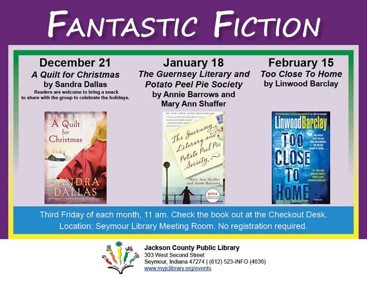 "Check out a copy of ""A Quilt for Christmas"" by Sandra Dallas and come to Fantastic Fiction on 12/21!"
