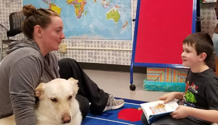 Paws to Read is a program where kids of all ages can practice their reading skills in a comfortable ...