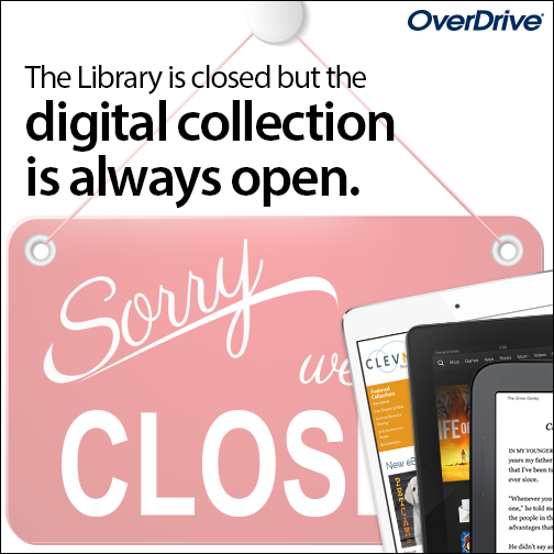 Check out an ebook, audiobook or magazine through the free Libby or OverDrive app!