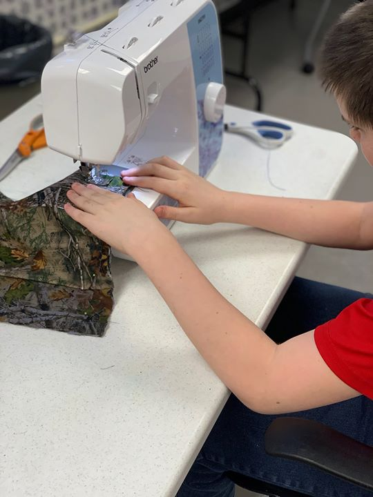 Today the tweens learned how to use the sewing machine and made their own custom pillow cases.