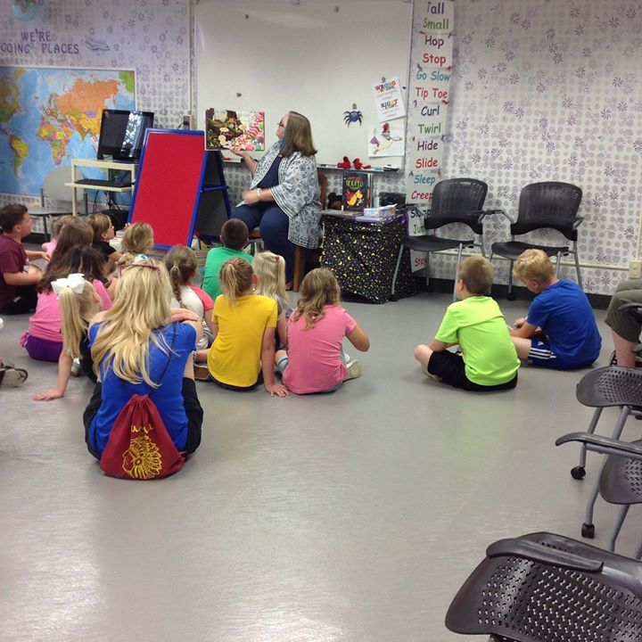 Miss Lola held a special storytime for visitors during their last week of school.