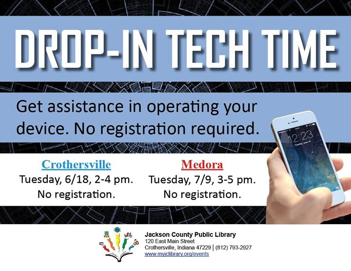 Stop at the Crothersville Library this afternoon to get some help with your device, or to learn more...