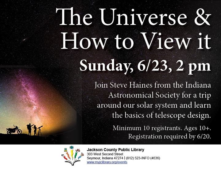 Learn more about the best way to see our universe!  Sign up at https://bit.ly/2ZAU4Sa by 6/20 or cal...