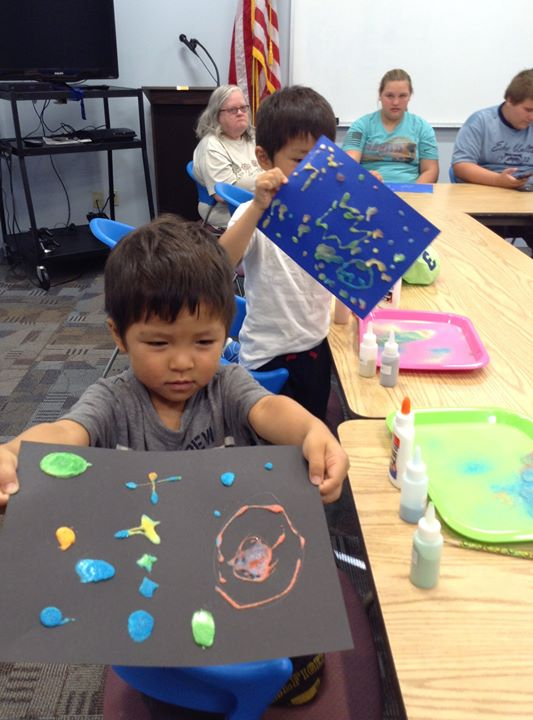 Yesterday, Family Masterpiece Makers made galaxy sand art!