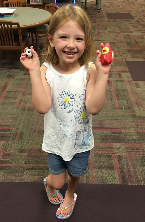 This week's lucky duck winner at the Seymour Library.