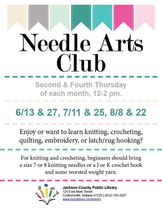 Join us at the Crothersville Library on the second and fourth Thursday of each month!  Bring your cr...