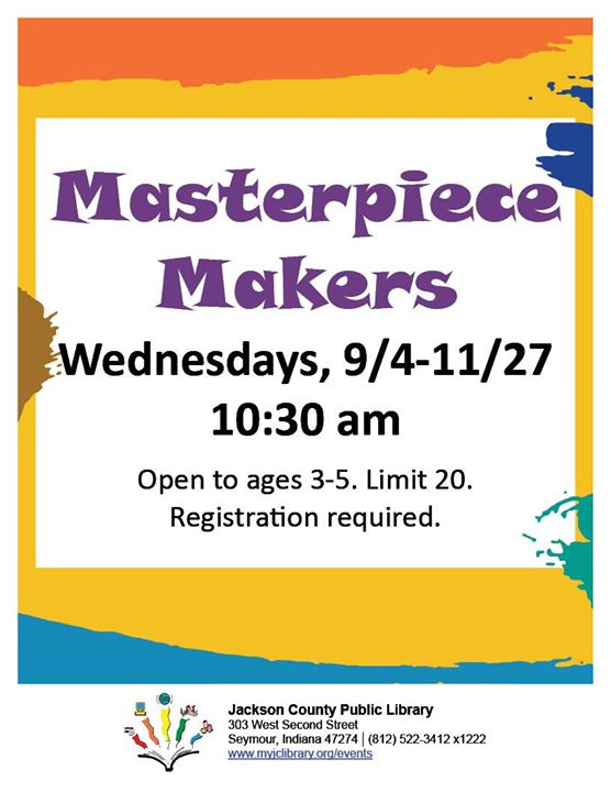Masterpiece Makers is an art program for ages 3-5 to help strengthen fine motor skills using various...