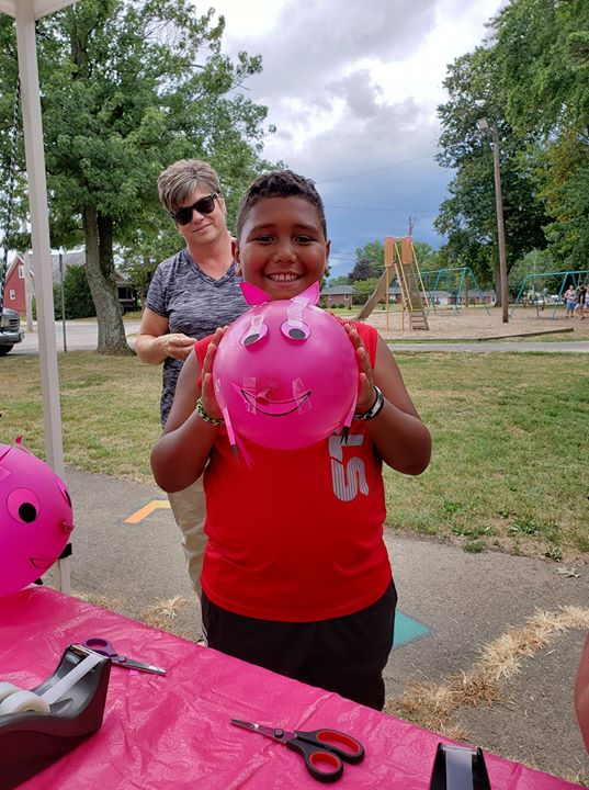 Pig in the Park at Gaiser Park lasts until 4pm! Visit the library's booth and make a fun craft!