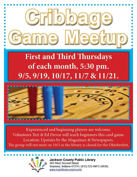 Learn to play cribbage at the Seymour Library!